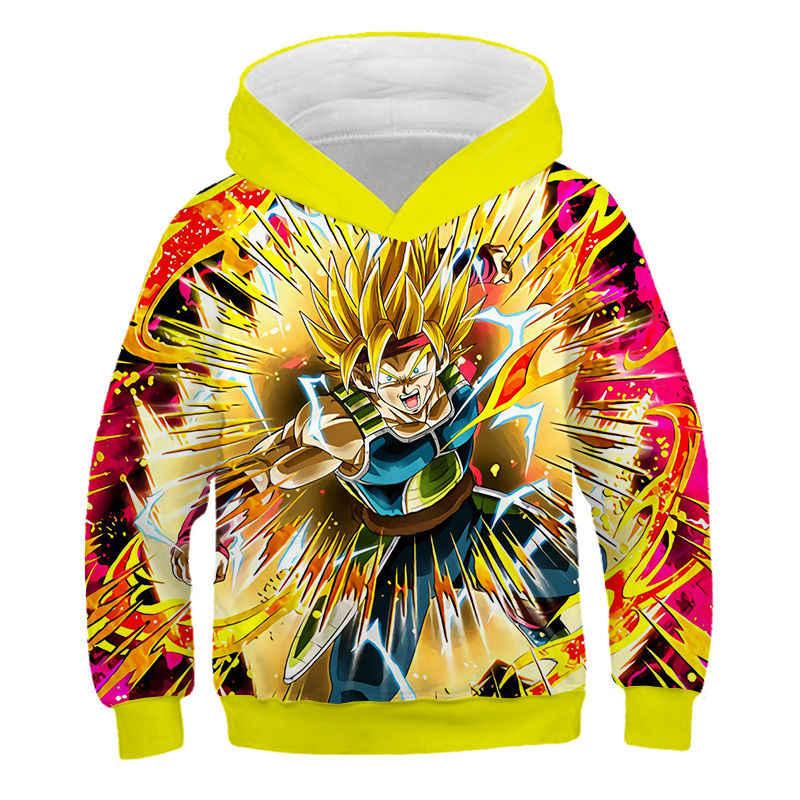 드래곤 볼 Z 까마귀 애니메이션 소녀와 소년 후드 유니폼 3D 풀오버 소년 운동복 마츠자카 재미 있은 만화 어린이 스웨터