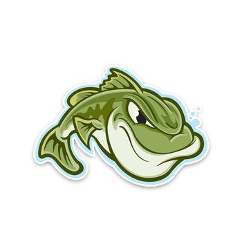 Zielona nieszczęśliwa agresywna ryba z samochodami i zwierzętami naklejki samochody motocykle akcesoria zewnętrzne etykiety winylowe 14cm * 9 6cm tanie i dobre opinie PLAY COOL Całego ciała Zwierząt wzór Klej naklejki 0 03cm cartoon Kreatywne naklejki Nie pakowane car sticker