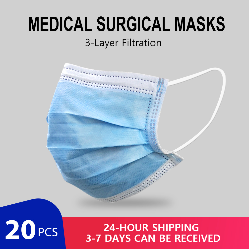 80Pcs/Pack Medical Surgical Masks Profession Disposable Mask Surgical 3-Ply  KF94 Nonwoven Disposable Elastic Mouth FFP2