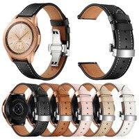 20mm Lederband für Samsung Galaxy Uhr 3 Band 41mm 42mm/Aktive 2 1 Armband für garmin Vivomove HR/Vivoactive 3/Venu/SQ