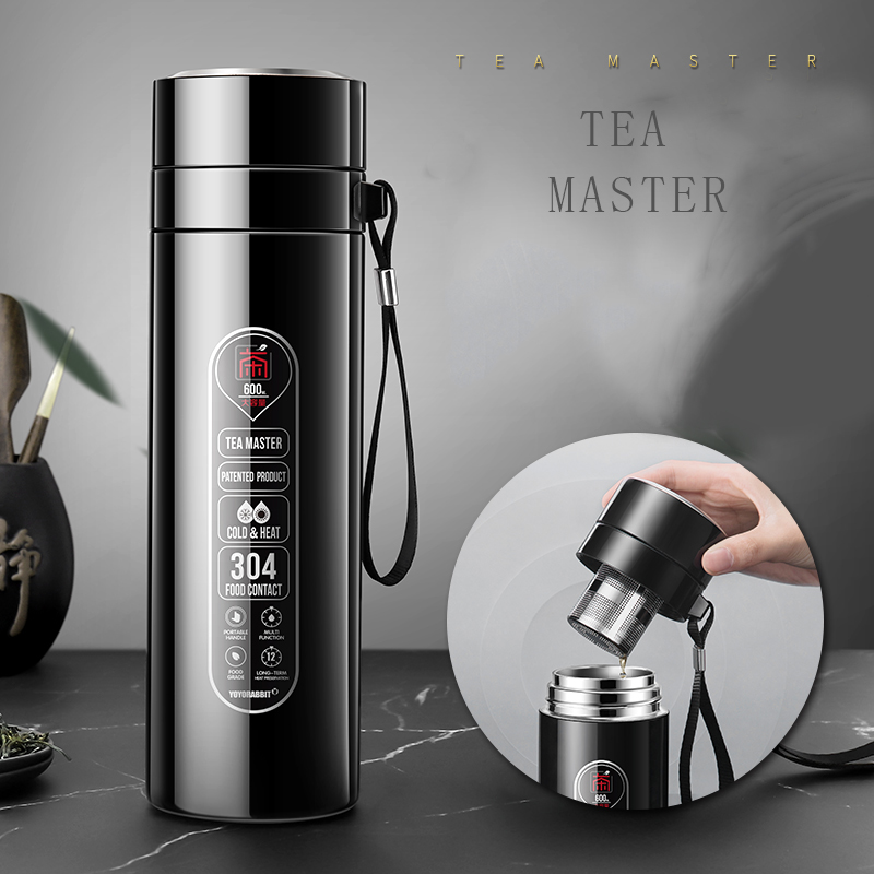 Water Bottle Stainless Steel Thermos For Tea Drinkware Vacuum Flasks Tea Infuser Thermo Cup Insulated Bottle Garrafa Termica