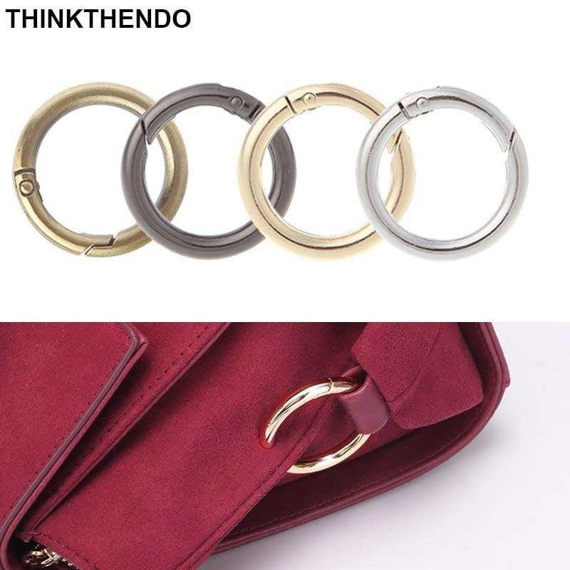 5 Pcs/Set Round Ring Circle Spring Snap For DIY Keyring Hook Bag Buckle Handbag Purse Inner Diameter 2.5cm /3.2cm