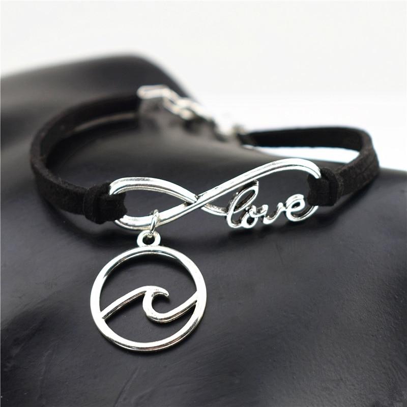 10 cores nova praia chique infinito amor pouco bonito prata tartaruga do mar encantos pulseiras de couro tartaruga jóias mulheres presentes