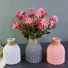 Plastic Vase Flower Arrangement Wedding-Decorations Rattan Home-Decor Imitation-Ceramic