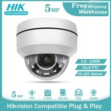 Hikvision Compatible PTZ-2504X-IZ IP Camera 5MP 4X-16X ZOOM Speed Dome Outdoor IR 50M H.265+ CCTV Security Camera IP IP67 IK10
