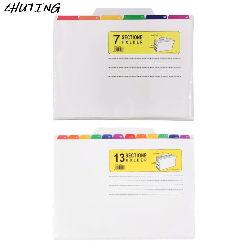 File Holder Classification Bag Color UV Print Folder Waterproof File Sorter Office Learn Good Helper