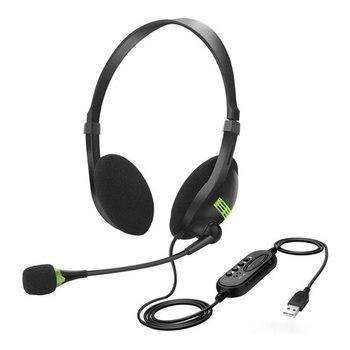 Telephone Headset Call center Operator USB Plug Headphones Offical Headset Met Micro Voor Computer Laptop PC
