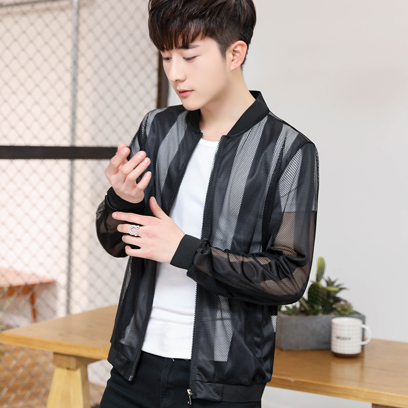 Outdoor Quick Drying Clothes Men's Outdoor Wind Shield Ultra-Thin Spring Summer Breathable Sun Protection Clothing Coat Long Sle