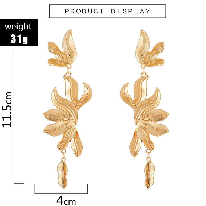 H25088ab2101f4bb4a2e2d685da27e99d5 - Tocona Vintage Metal Flowers Dangle Earrings for Women Bohemian Fringed Drop Earring Gold Women Fashion Jewellery 9127