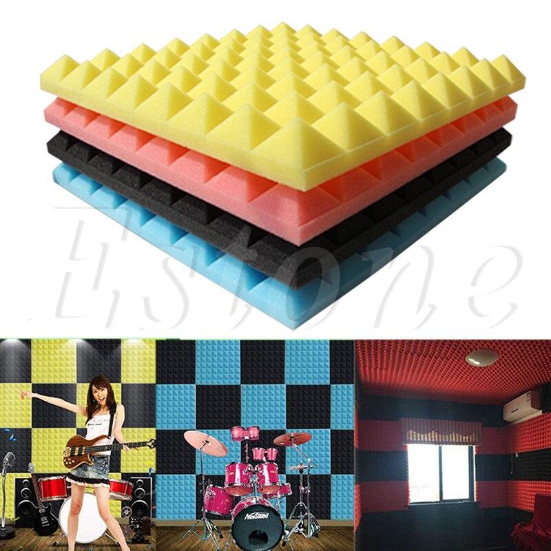 50x50x5,5 cm espuma acústica tratamiento de absorción de sonido cuña baldosas para estudio/música suave Puzle 3D modelo de espuma segura, arquitectura de construcción Diy, casa Diy rosa, muebles de cama para niñas, juguetes para niños
