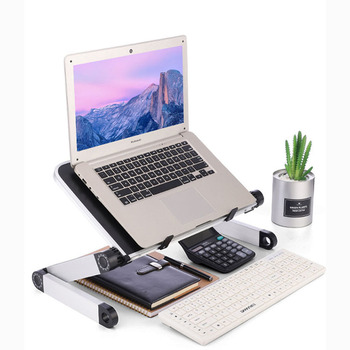 Aluminum Alloy Laptop Desk Portable Foldable Computer Table Stand Tray Adjustable Multi Functional Notebook Desk for Bed Sofa adjustable multi functional ergonomic mobile laptop table stand for bed portable sofa folding table foldable notebook desk page 9
