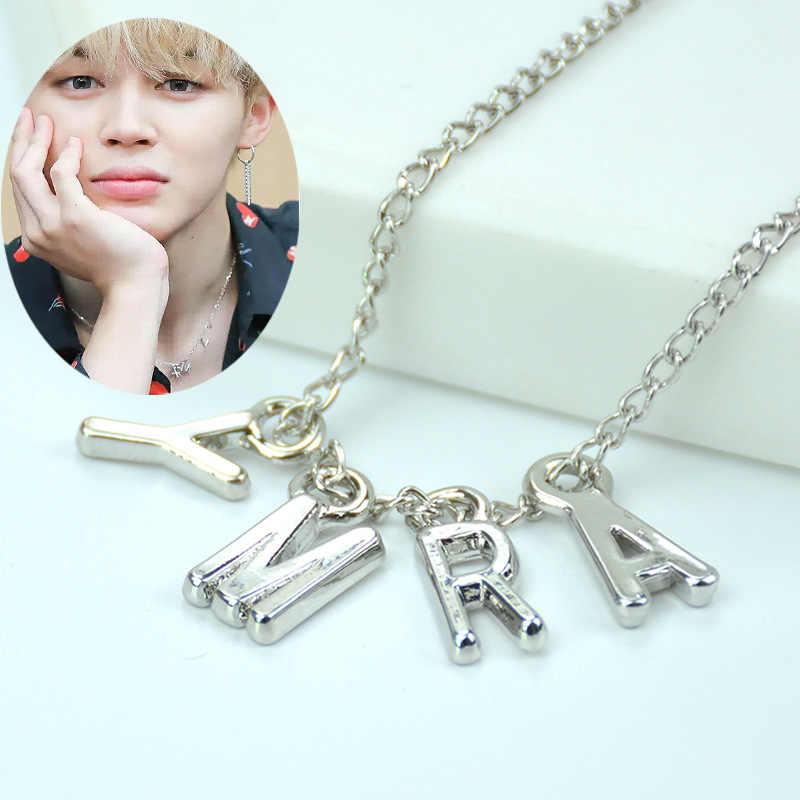 Jisensp koreański styl Bangtnn chłopcy naszyjnik Punk ARMY Choker naszyjnik K-POP biżuteria dla kobiet mężczyzn dar przyjaźni