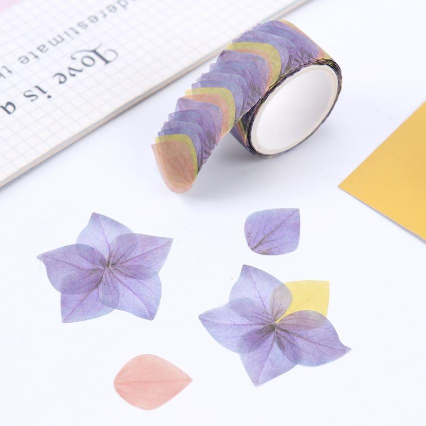 200PCS/Roll Creative Masking Tape Petal Flower Paper Masking Tapes Japanese Washi Tape DIY Scrapbooking Sticker