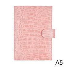 Moterm couro genuíno original a5 caderno capa diário planejador croc grão diário papelaria agenda organizador