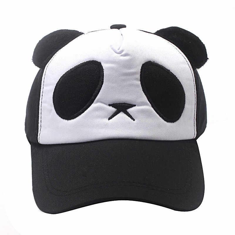 1pc Panda Baseball Hat for Kids Girls Boys Women Men Black Party Hats for Kids