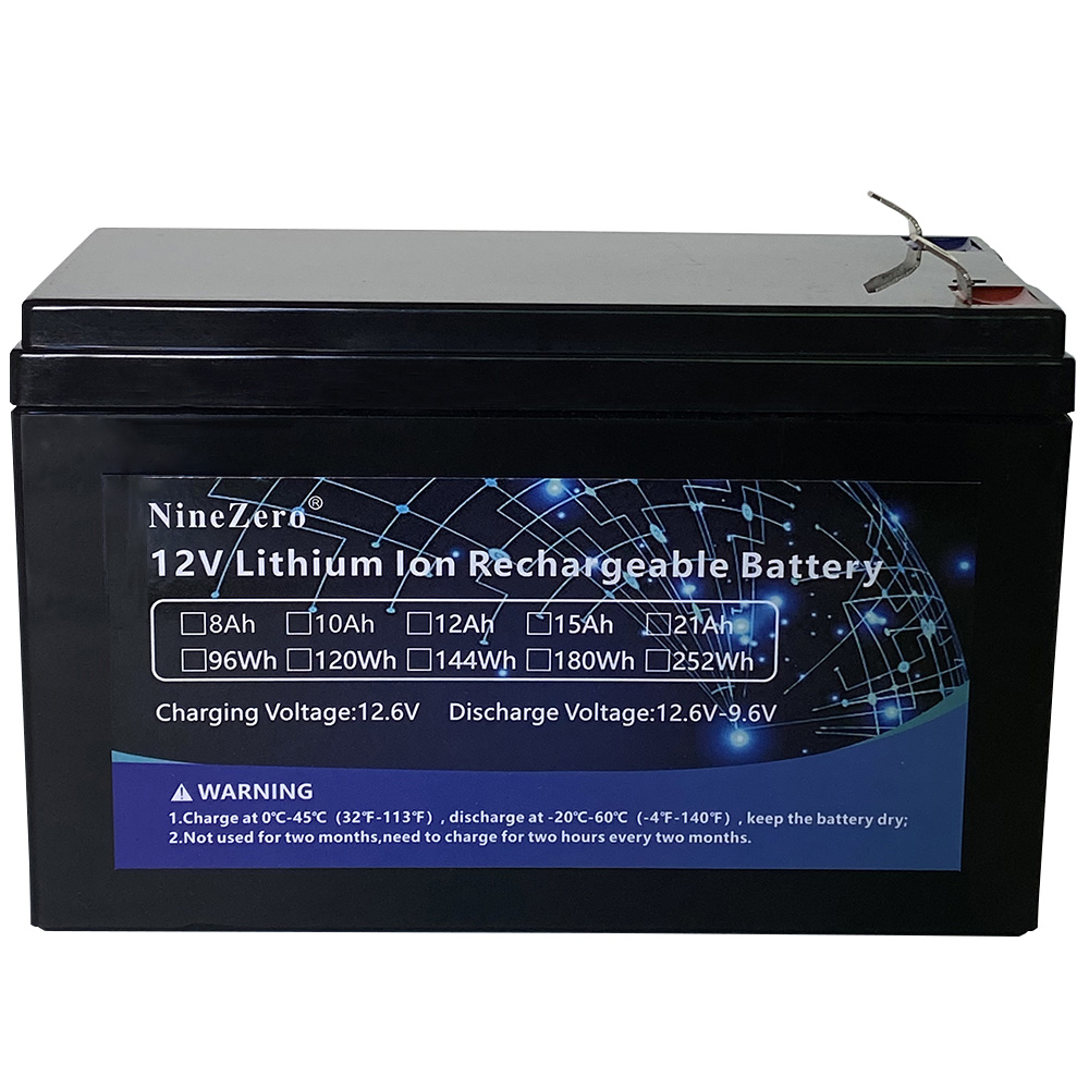 <font><b>12V</b></font> <font><b>8Ah</b></font> Lithium Li-ion <font><b>Battery</b></font> Rechargeable <font><b>Battery</b></font> Pack With 1A Charger For Kid Electric Car Toy,Solar Panel,etc. image