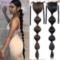 Женский длинный хвост-фонарик HOUYAN, черный синтетический хвост на шнурке, аксессуары для волос
