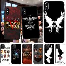 NBDRUICAI hollywood undead Black Soft Shell Phone Case Capa for iPhone 11 pro XS MAX 8 7 6 6S Plus X 5S SE XR case майка классическая printio hollywood undead