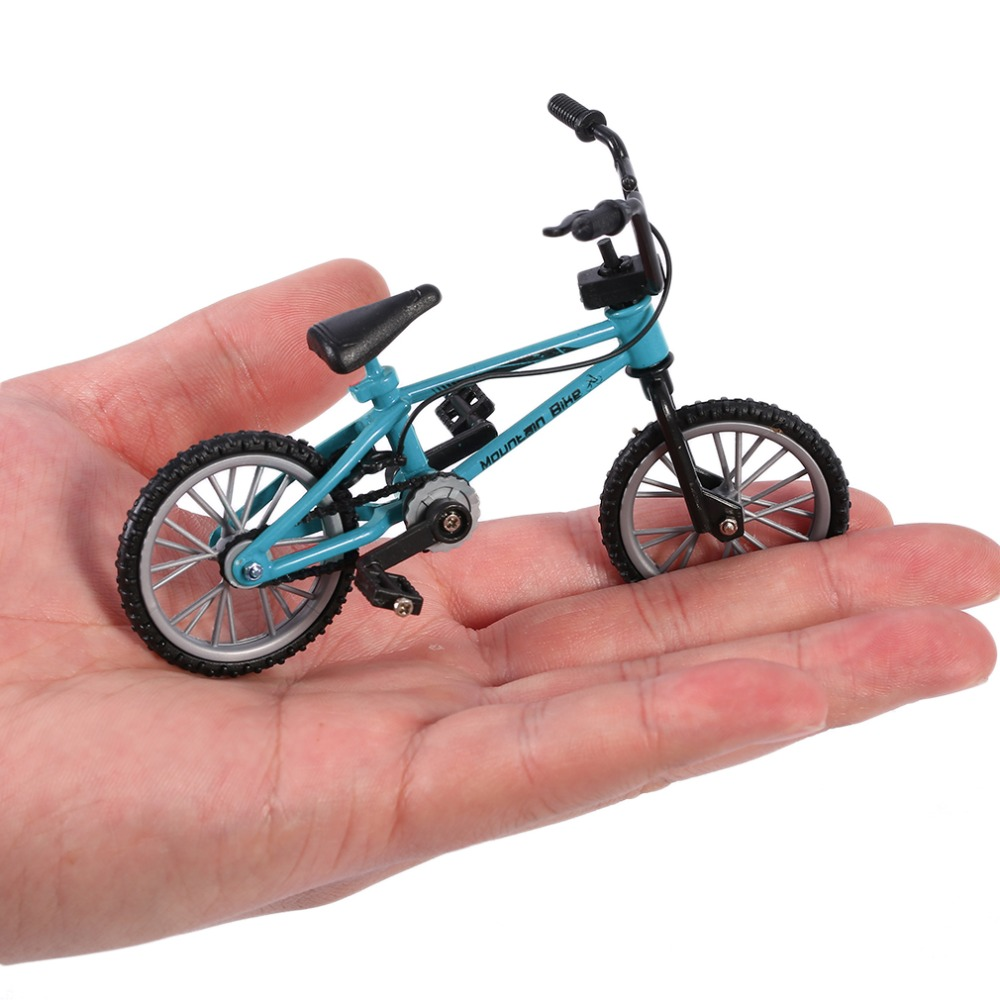 Finger board bicycle Toys With Brake Rope Blue Simulation Alloy Finger bmx Bike Children Gift Mini Size drop shipping(China)