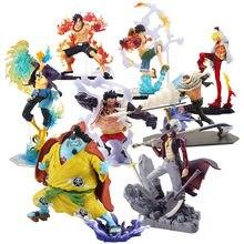 ¡10-30cm de una pieza Luffy Ace Zoro Sanji Sabo Marco Shanks Sakazuki derecho efectos especiales batalla Ver! PVC MODELO DE figura de acción Juguetes