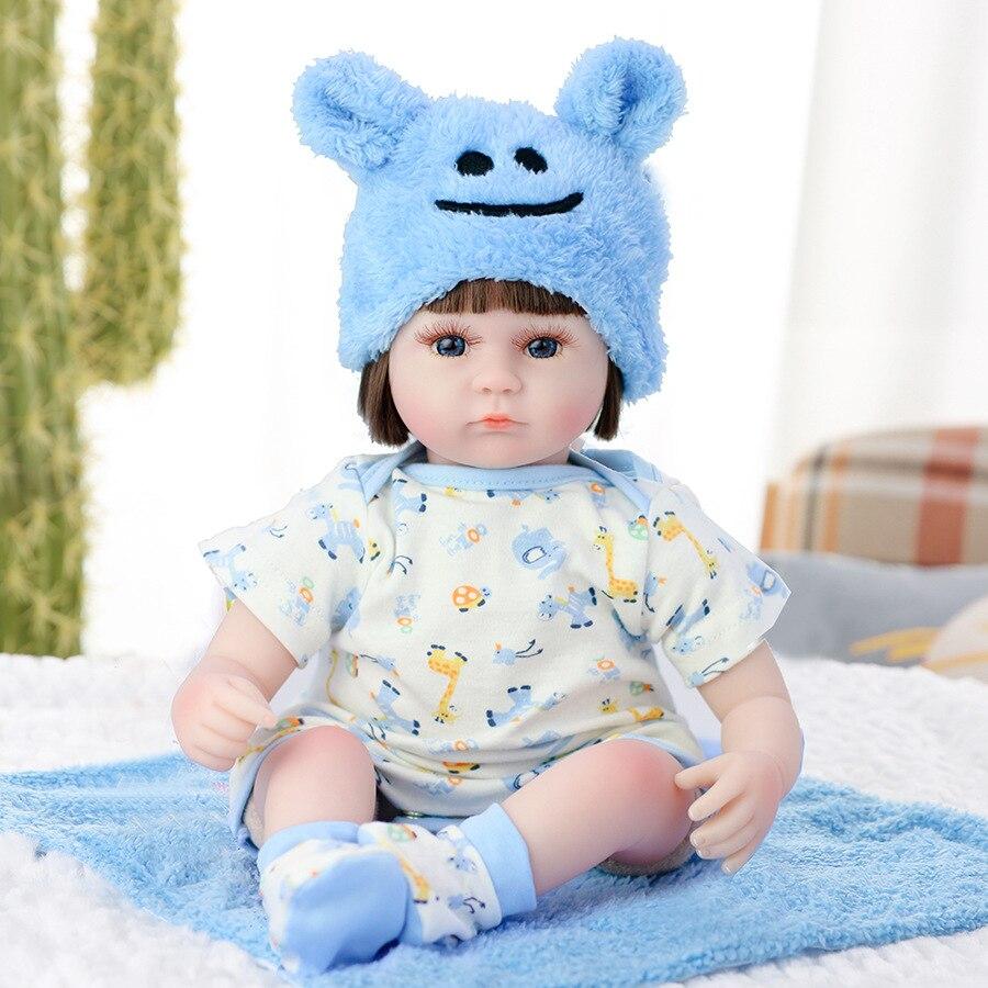 Reborn boneca 42cm realista bebê recém-nascido bonecas renascer lifelike macio silicone bebês da criança boneca brinquedo presentes de aniversário
