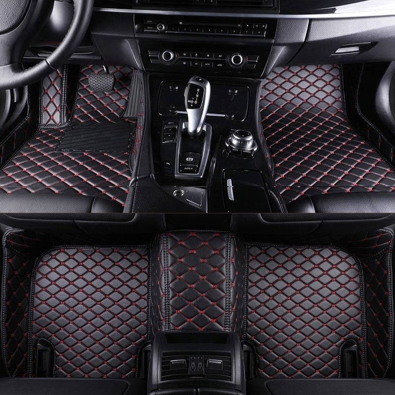 rownfur tapis de sol de voiture en cuir interieur de voiture personnalise pour audi a6 c6 c7 interieur de voiture 3d accessoire de protection