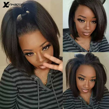Light Yaki Straight 13x6 Lace Front Human Hair Wigs
