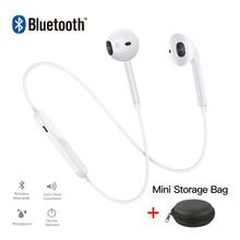 цена на S6 Wireless Bluetooth Earphones Bass Headset Neckband Sport HD Stereo In-Ear with Microphone Earphones for Smartphone &Computer