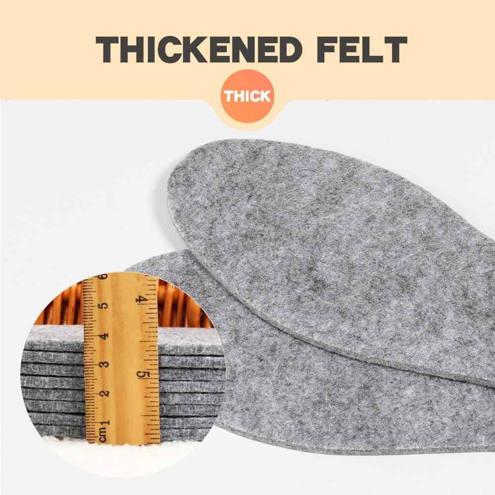 3 Angni 5 Pairs Wolvilt Inlegzolen Dikke Warme Binnenzool Voor Schoenen Echt Wol Ademende Schoen Pad.