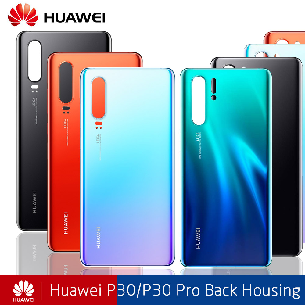 AAA Quality Back Battery Glass Cover Replacement For Huawei P30 Pro P30pro Rear Housing Chassis Door Back Case + Sticker