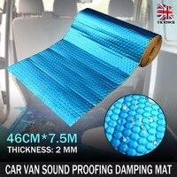 Mayitr 1 Roll Automotive 2mm 7.5M Blue Damping Mat Aluminum Car Van Sound Deadening Proofing Insulation Cotton for Car Interiors