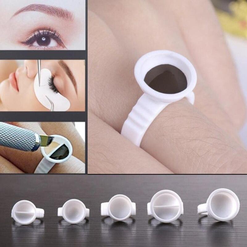 10Pcs Disposable Eyelash Extension Glue Rings Eyelash Extension Glue Holder Holder Glue Container Tattoo Pigment