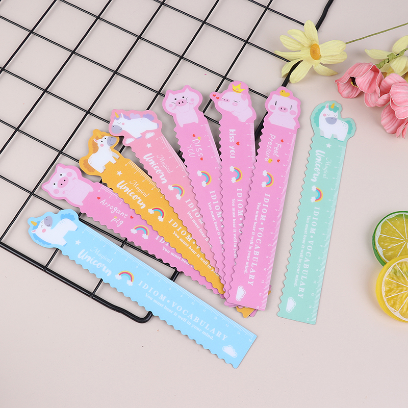 18 Cm Cute Bendable Ruler Magnetic Flamingo Cute Pink Leopard Drawing Ruler For School Kids Painting Gift Korean Stationery