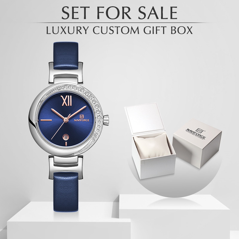 NAVIFORCE Watch Women Luxury Brand Ladies Quartz Wristwatch Leather Waterproof Watches Reloj Mujer Set For Sale Relogio Feminino