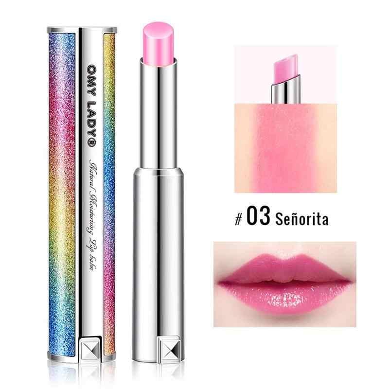Nutritivo bálsamo labial hidratante beewax lábio plumper natural extrato maquiagem batom de longa duração descoloração cor mudando