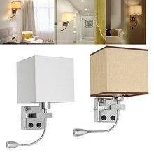 Aplique de pared LED ajustable, luz LED de pared, protección de ojos, lectura, estudio, iluminación del hogar, luz nocturna, lámpara de noche para dormitorio, accesorio de lámpara