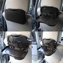 Car Drink Holder Folding Car Cup Holder Bracket for Food Auto Back Rear Seat Table Cup Phone Holder Car Storage Box Universal