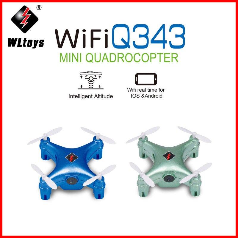 Wltoys Q343 Mini Drones 2.4GHz 4CH 6 axes RTF RC quadrirotor Mobile WiFi contrôle avion jouet WiFi en temps réel Transmission Drone