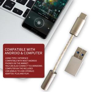 Image 5 - เครื่องขยายเสียงหูฟังแบบพกพา600Ω ESS ES9280C PRO HPA DSD 128 USB Type C DAC AmpสำหรับAndroid Pixel SAMSUNG Xiaomi onePlus Win10