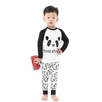 100 Cotton Boys and Girls Long Sleeve Pajamas Sets Children's Sleepwear Kids Christmas Pijamas Infantil Homewear Nightwear - A007, 4