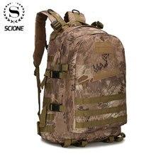 Mochila camuflada unissex de náilon, mochila militar impermeável 1000d de 40l para homens e mulheres, ideal para viagens