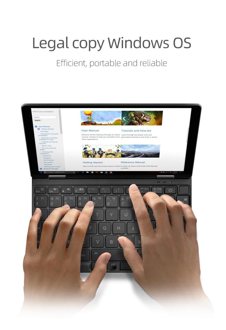 8600mAH Laptop One Netbook OneMix 3Pro Notebook 8.4'' Win10 Intel Core I5 16GB RAM 512GB PCIE SSD Dual WiFi Type-C Mrico HDMI