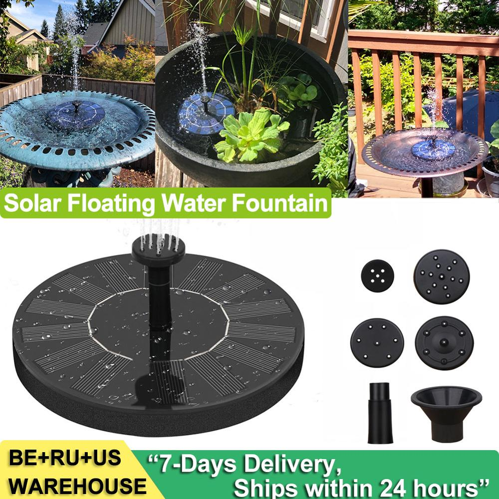 Water-Pump Decor Fountain Floating Garden-Pool Bird Bath Pond-Waterfall Patio Solar-Powered