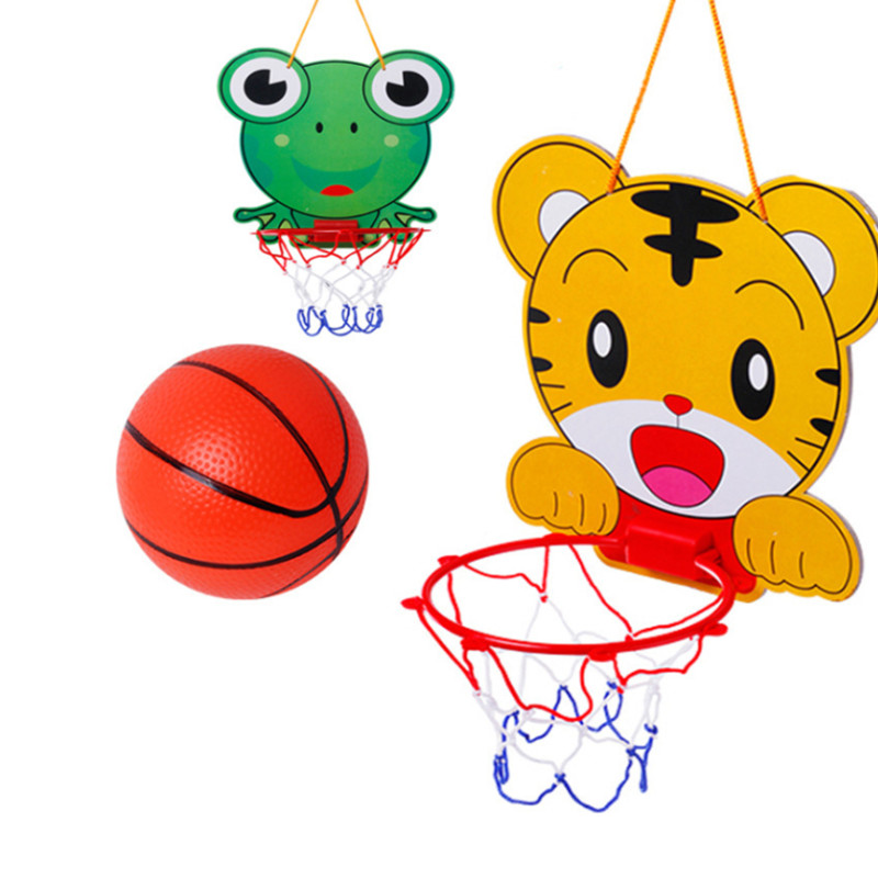 Children Cartoon Basketball Stand Set Hanging Indoors Outdoor