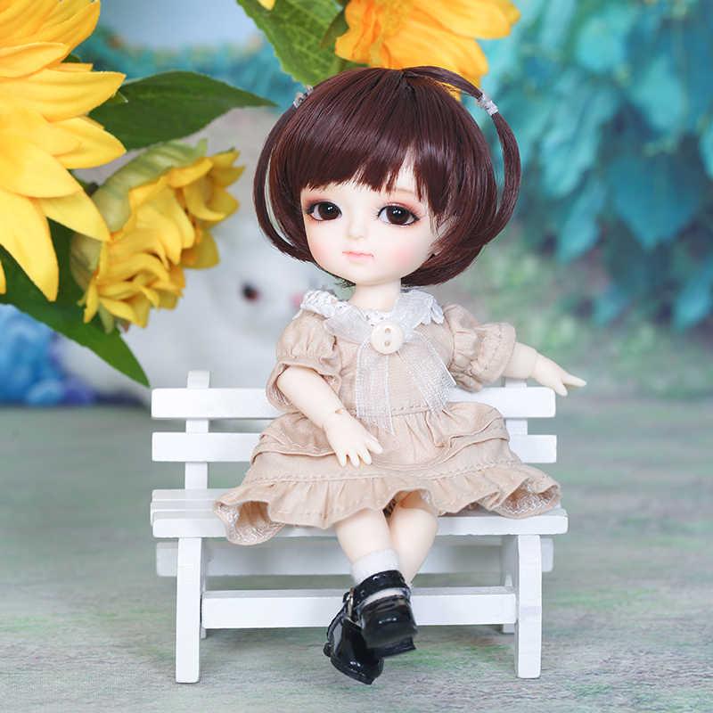 จัดส่งฟรีตุ๊กตา BJD Lati สีเหลือง Sunny LEA Lami Kuro COCO 1/8 น่ารักยืดหยุ่นวิกผมเสื้อผ้ารองเท้า EYE Pukifee Oueneifs luodoll