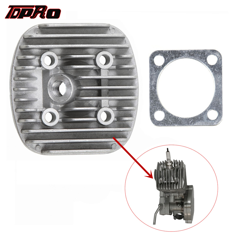 Blue Round Cylinder Head Cover With Gasket For 80cc Engine Motorized Bike