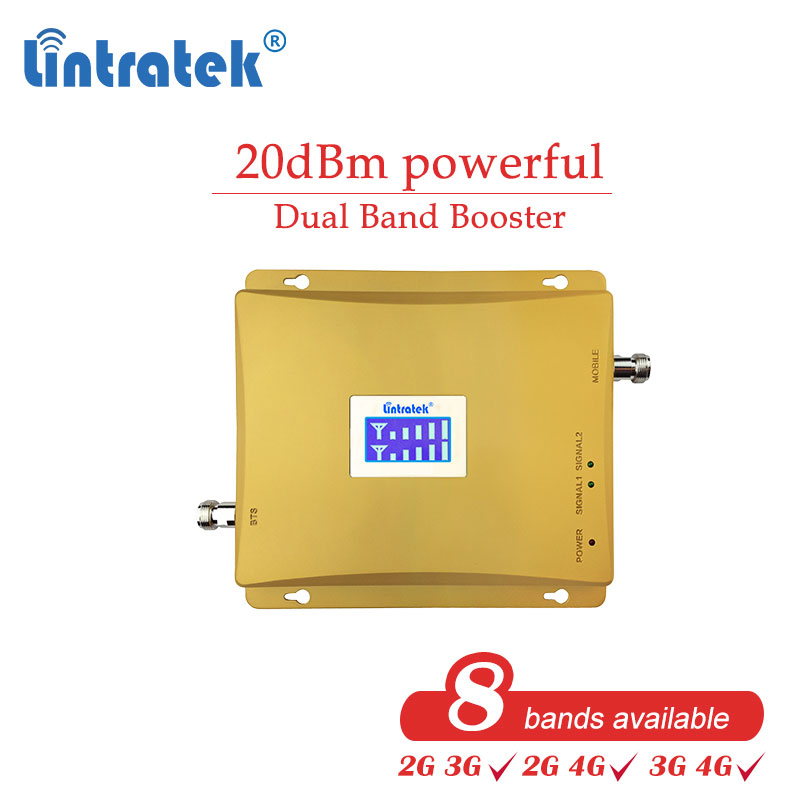 Lintratek Cellular Signal Gsm 900 Cell 2g 4g 1800 3g 850mhz 2100 Booster 700 800 1900 Dual Band 2600mhz 4g Repeater Amplifier Dd