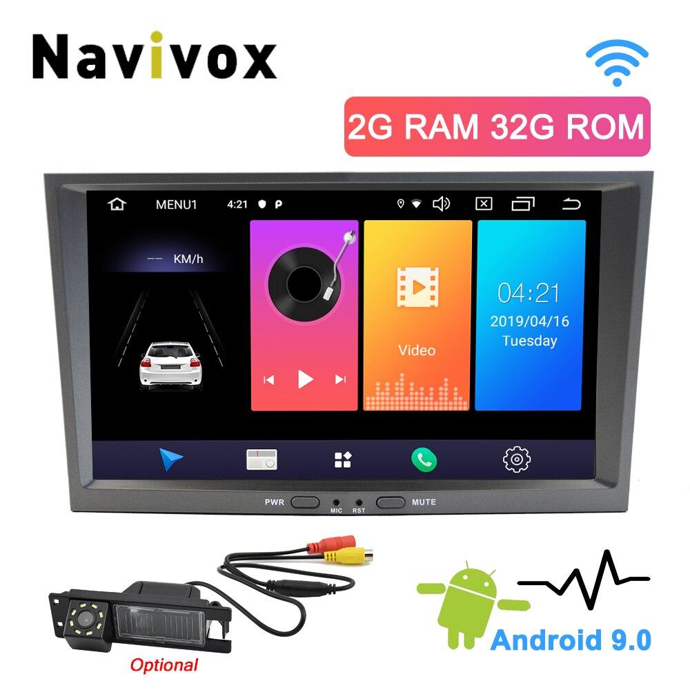 Navivox 2 Din Android 9.0 Opel Vauxhall Astra H Meriva Antara Zafira Agila Corsa D Vectra Car Multimedia Player Radio Head Unit(China)