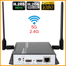 HEVC H.265 HDMI Video Audio To RTSP RTMP HTTP M3U8 Streaming Encoder Wireless H265 H.264 HD Video To IP Stream Encoder IPTV WiFi