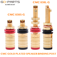 CMC 838S G 838L G 24K Gold Plated OFC Speaker Amplifier Binding Post Terminal Banana Plug Socket Output Connector Hifi Audio DIY